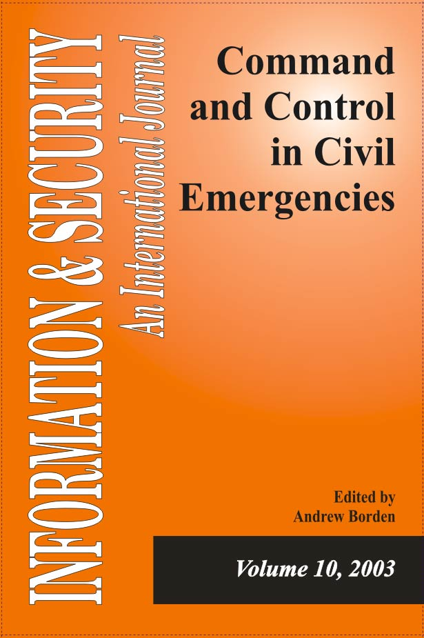 I&S 10: Command and Control in Civil Emergencies